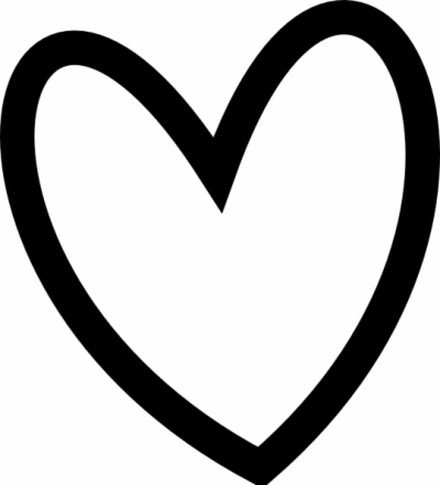curly heart outline , Free clipart download.