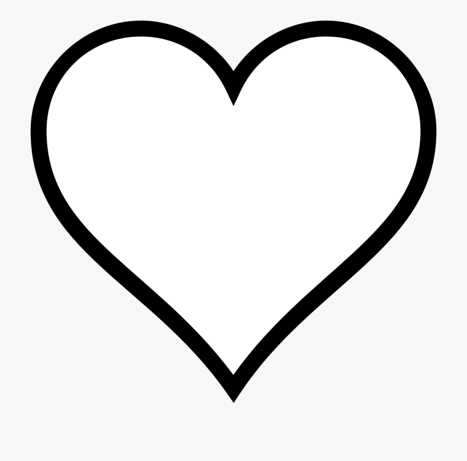 Heart Outline Clipart , Transparent Cartoon, Free Cliparts.