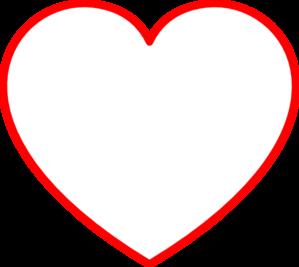 Red Heart Outline Clip Art at Clker.com.