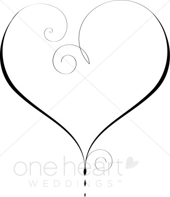 Heart Outline Clipart.
