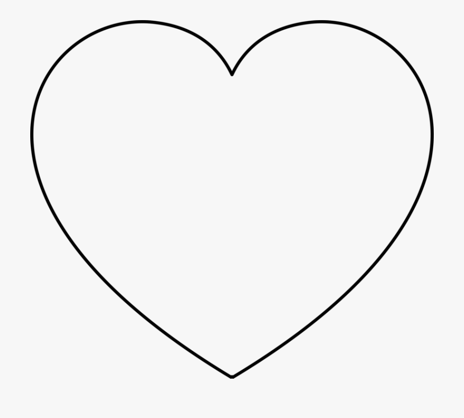 Coloring Book Heart Valentine\'s Day Shape.