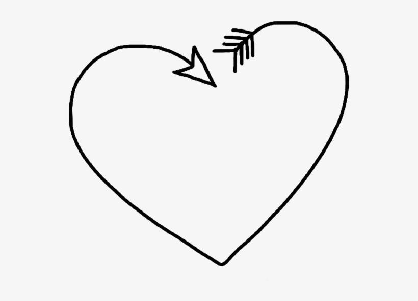 Corazón Png Black Tumblr White Heart.