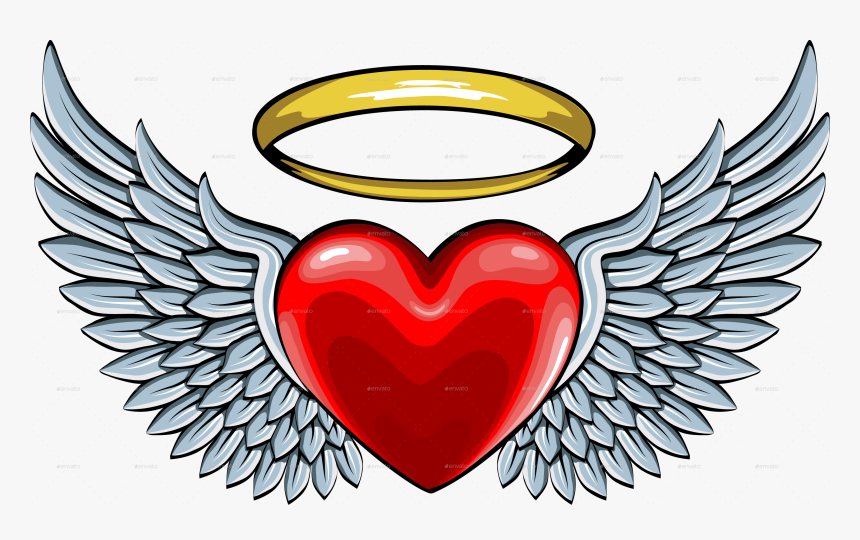 Vector Freeuse Library Halo Clipart Angel Wings Heart.
