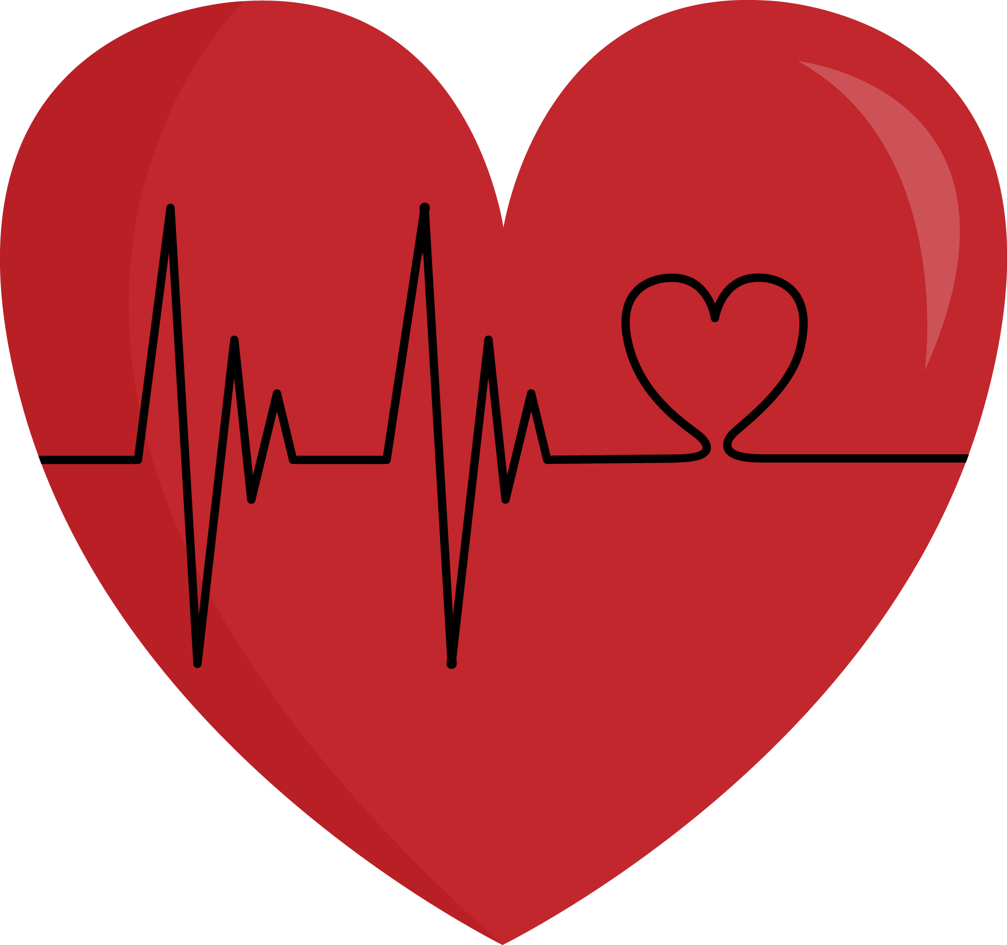 Collection of Heartbeat clipart.