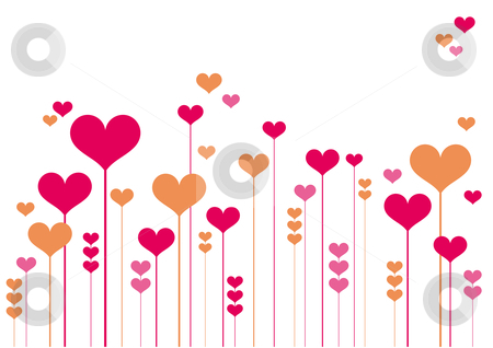 Flowers and hearts clipart.