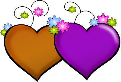 Clipart Hearts And Flowers.