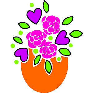 Hearts & Flowers clipart, cliparts of Hearts & Flowers free.