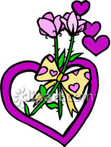Clipart Flowers And Hearts.