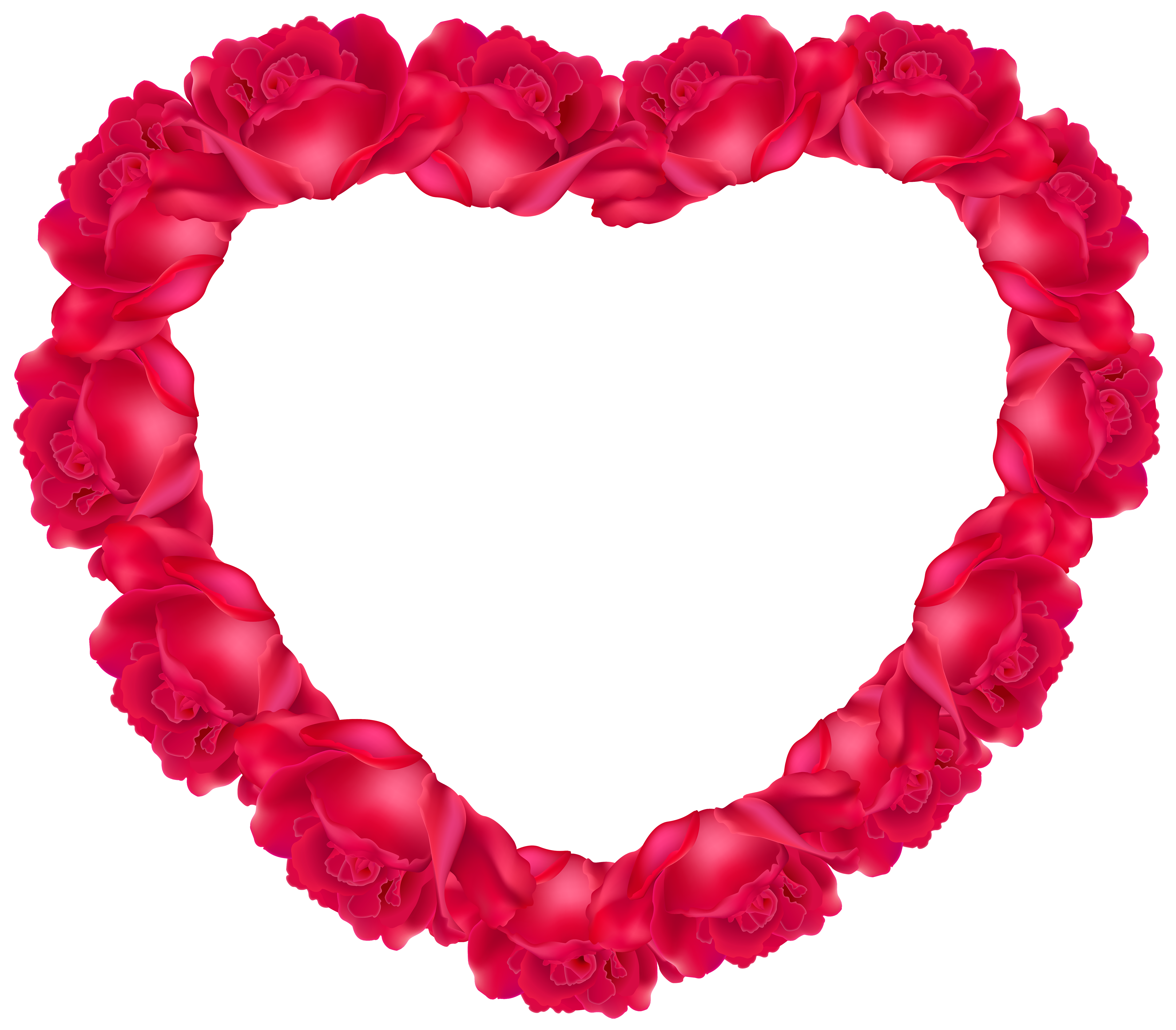 Heart of Roses PNG Clipart Image.