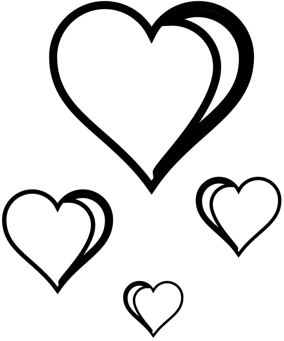 Free Hearts Black And White, Download Free Clip Art, Free.