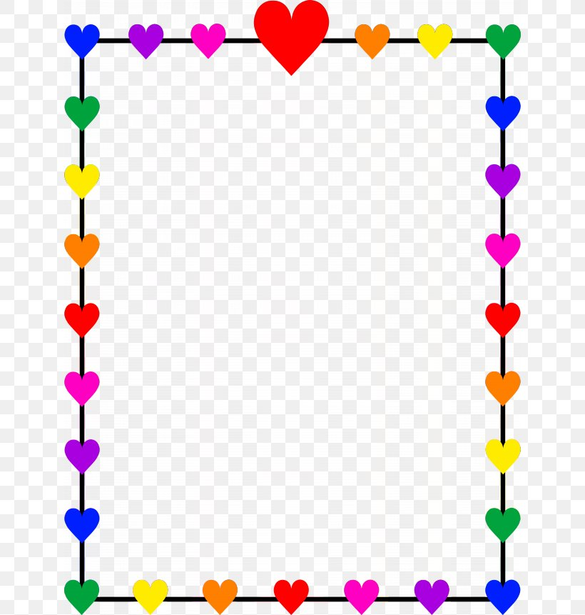 Right Border Of Heart Valentine\'s Day Clip Art, PNG.