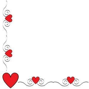 Valentine Border Clip Art.