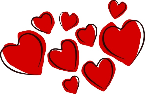 Sketchy Hearts clip art Free vector in Open office drawing.