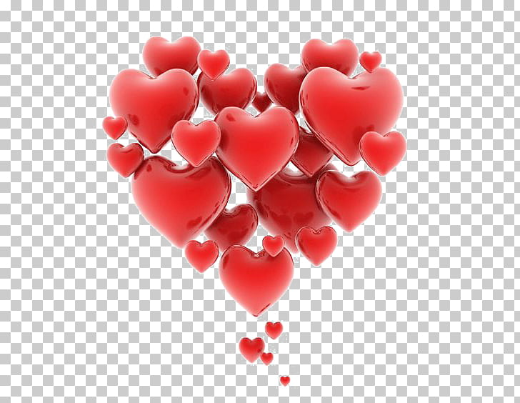 Heart Love Romance , Floating Hearts, red hearts PNG clipart.