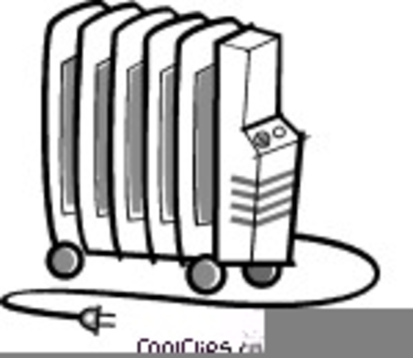 Space Heater Clipart.
