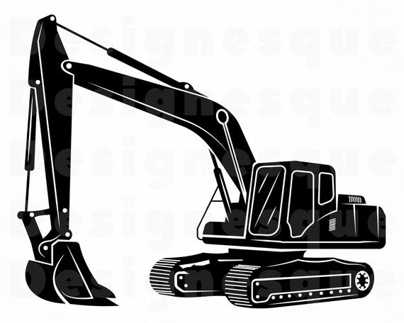 Excavator SVG, Heavy Equipment Svg, Excavator Clipart, Excavator Files for  Cricut, Excavator Cut Files For Silhouette, Dxf, Png, Eps, Vector.