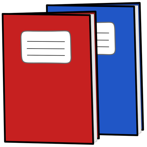 Exercise books vector image.
