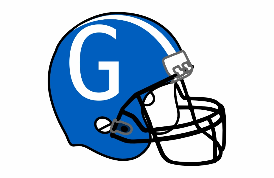 Football Helmet Blue G Clip Art At Clker.