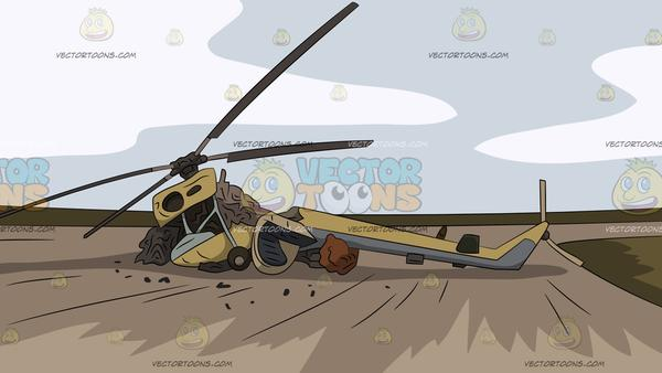 Helicopter Crash Site Background.