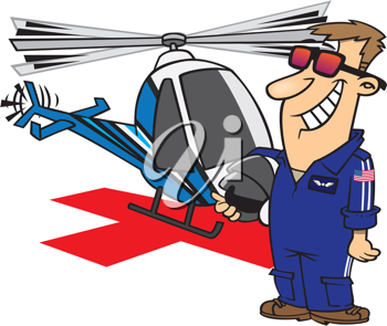 Royalty Free Clipart Image of a Helicopter Pilot #536600.