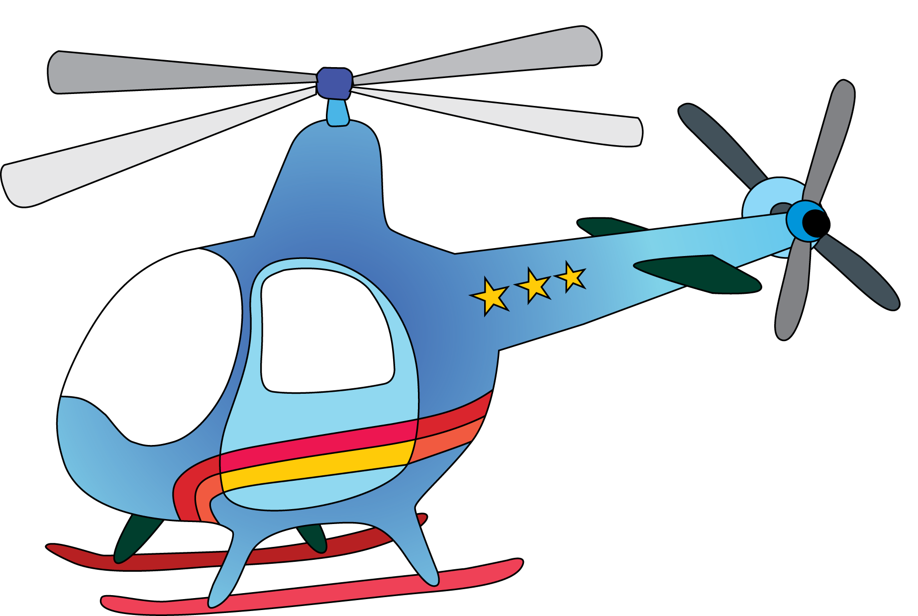 Helicopter Blades Clipart.