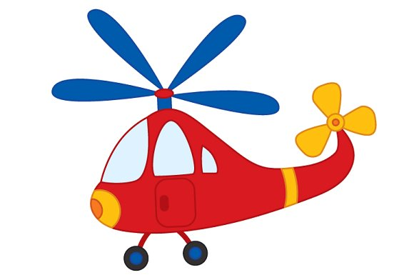 Red Helicopter Clipart.
