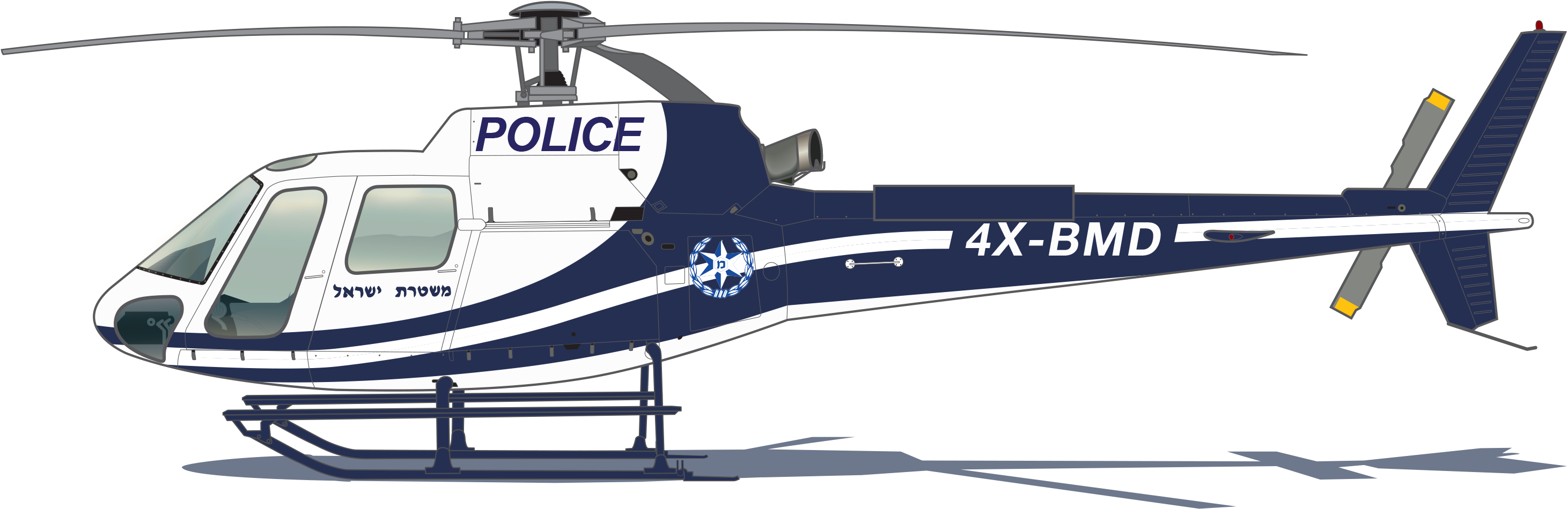 Light Blue Clipart Police Helicopter.