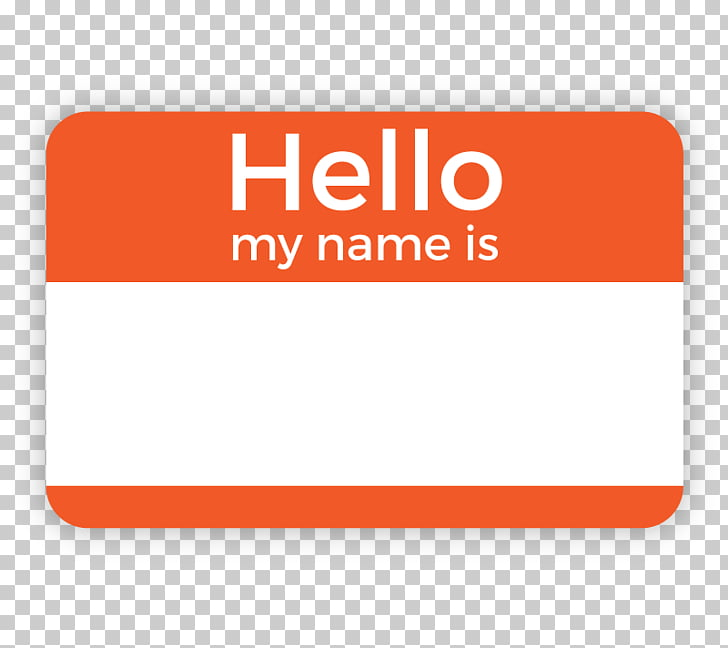 Name tag Label Paper Template Badge, Hello My Name Is PNG.