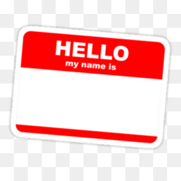 Hello My Name Is PNG and Hello My Name Is Transparent.