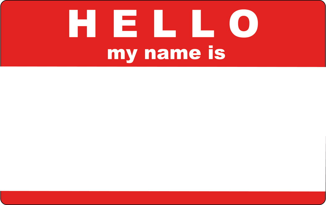 Hello my name is clipart 3 » Clipart Station.