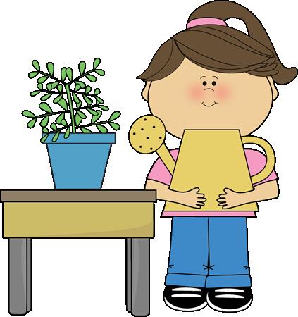 Classroom Plant Helper Clip Art.
