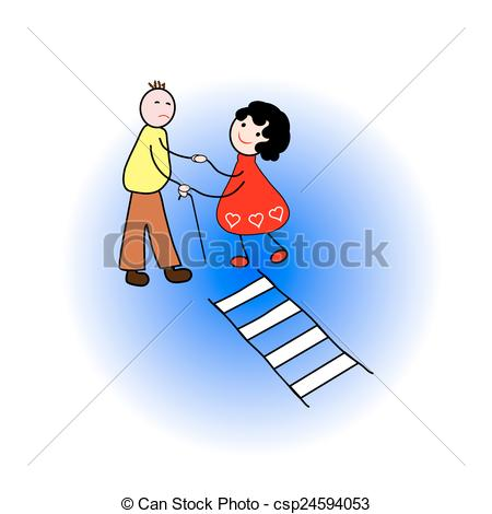 Girl Helping Man Clipart.