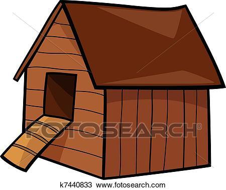 Hen house Clipart.
