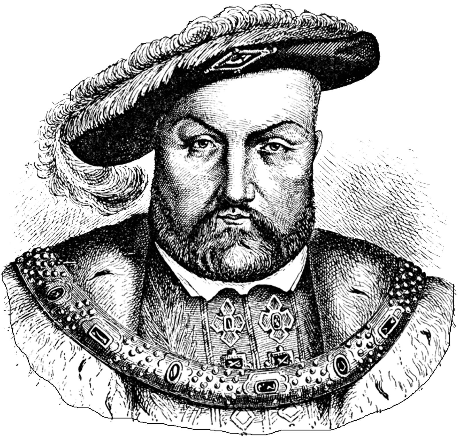 Henry VIII Clipart transparent PNG.