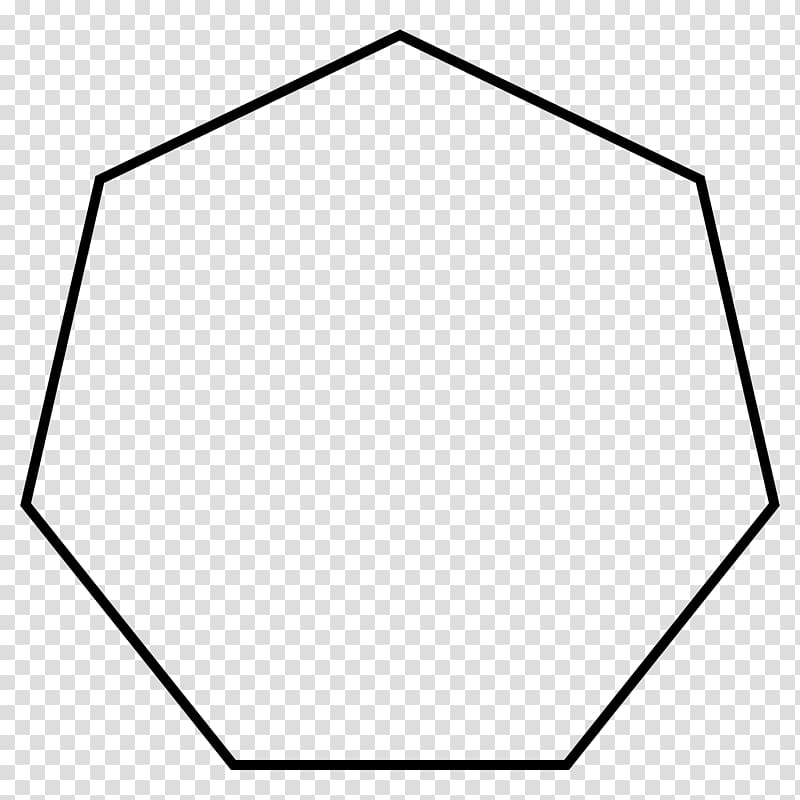Heptagon Regular polygon, others transparent background PNG.