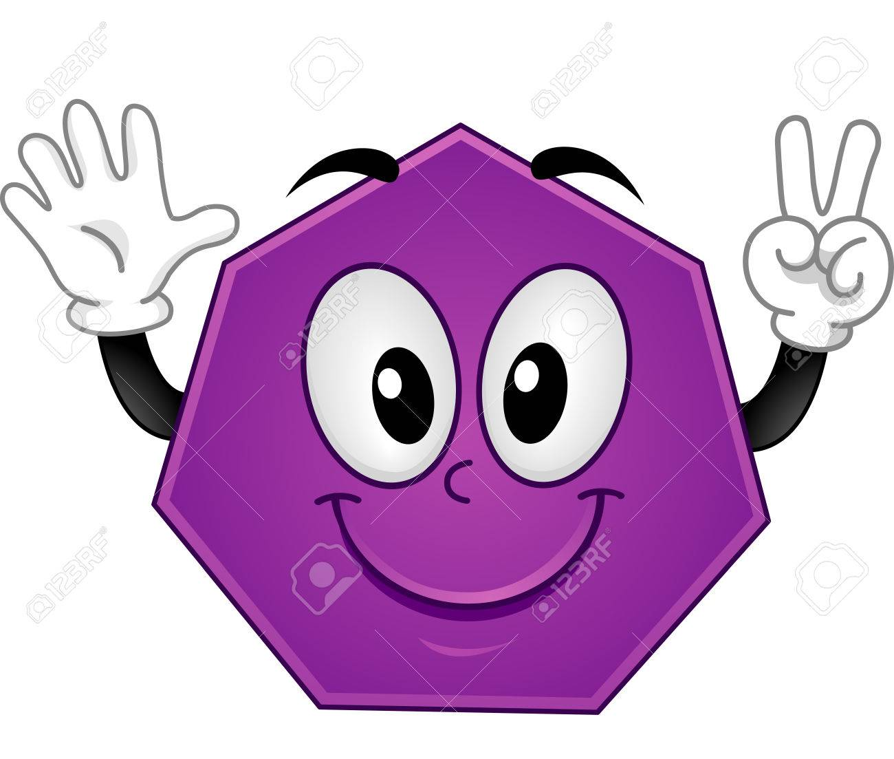 Mascot Polygon Heptagon » Clipart Station.
