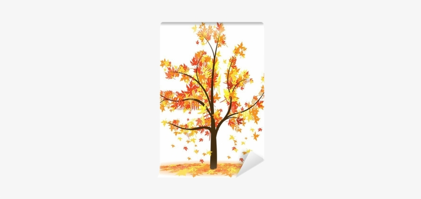 Herbstbaum Clipart Transparent PNG.