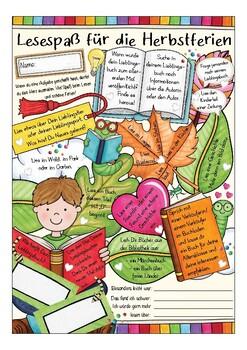 Lesen in den Ferien / Herbstferien.