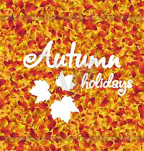 Herbstferien Hintergrund, Blätter Textur.