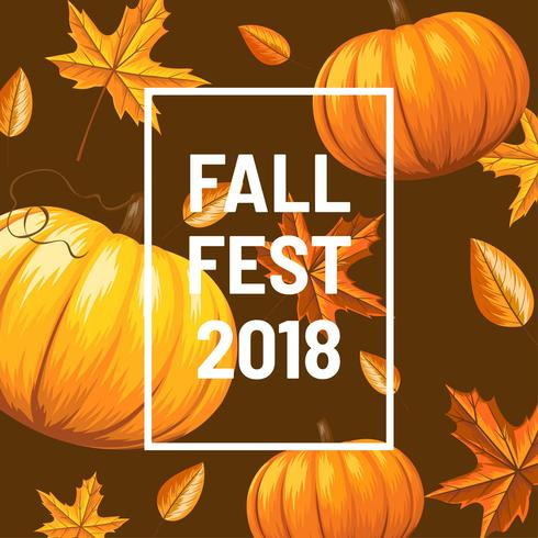 Fall Fest Background Vector.