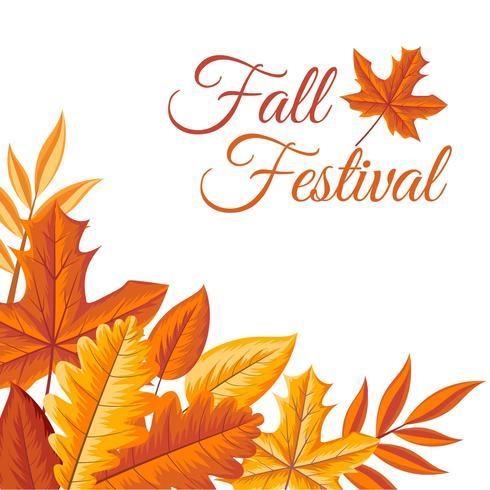 Herbst Fest Vorlage.