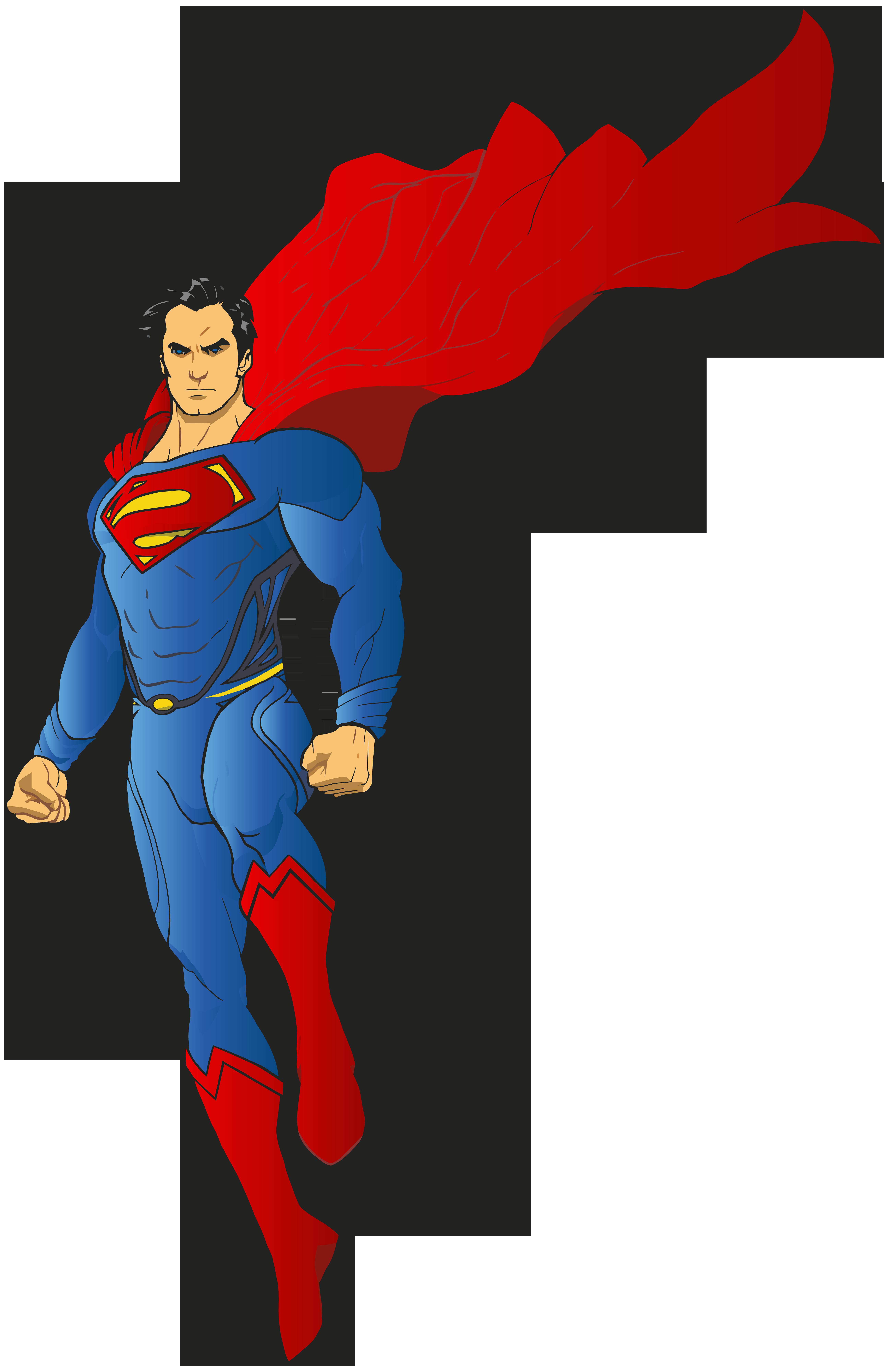 Super Hero Transparent Clip Art Image.