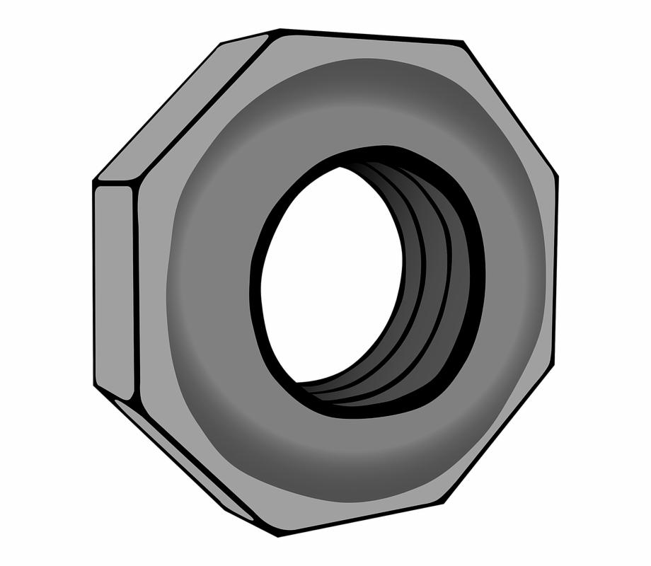 Nuts Vector Hexagonal.