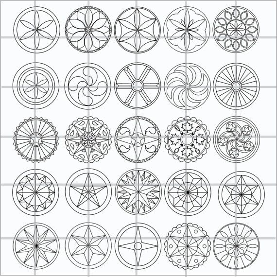 Dutch Hex Sign Clipart Collection Volume 1.