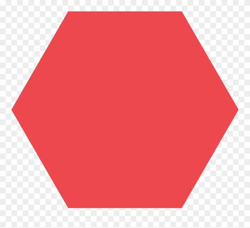 Red Hexagon Shape Clipart (#4526114).
