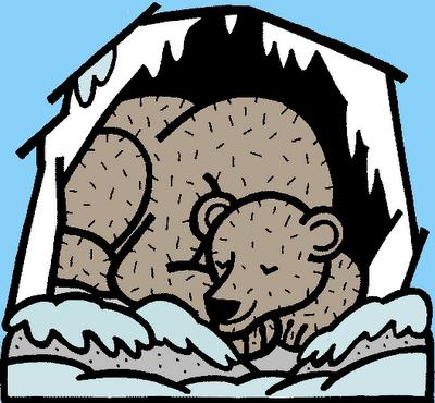 Bears clipart hibernating, Bears hibernating Transparent.