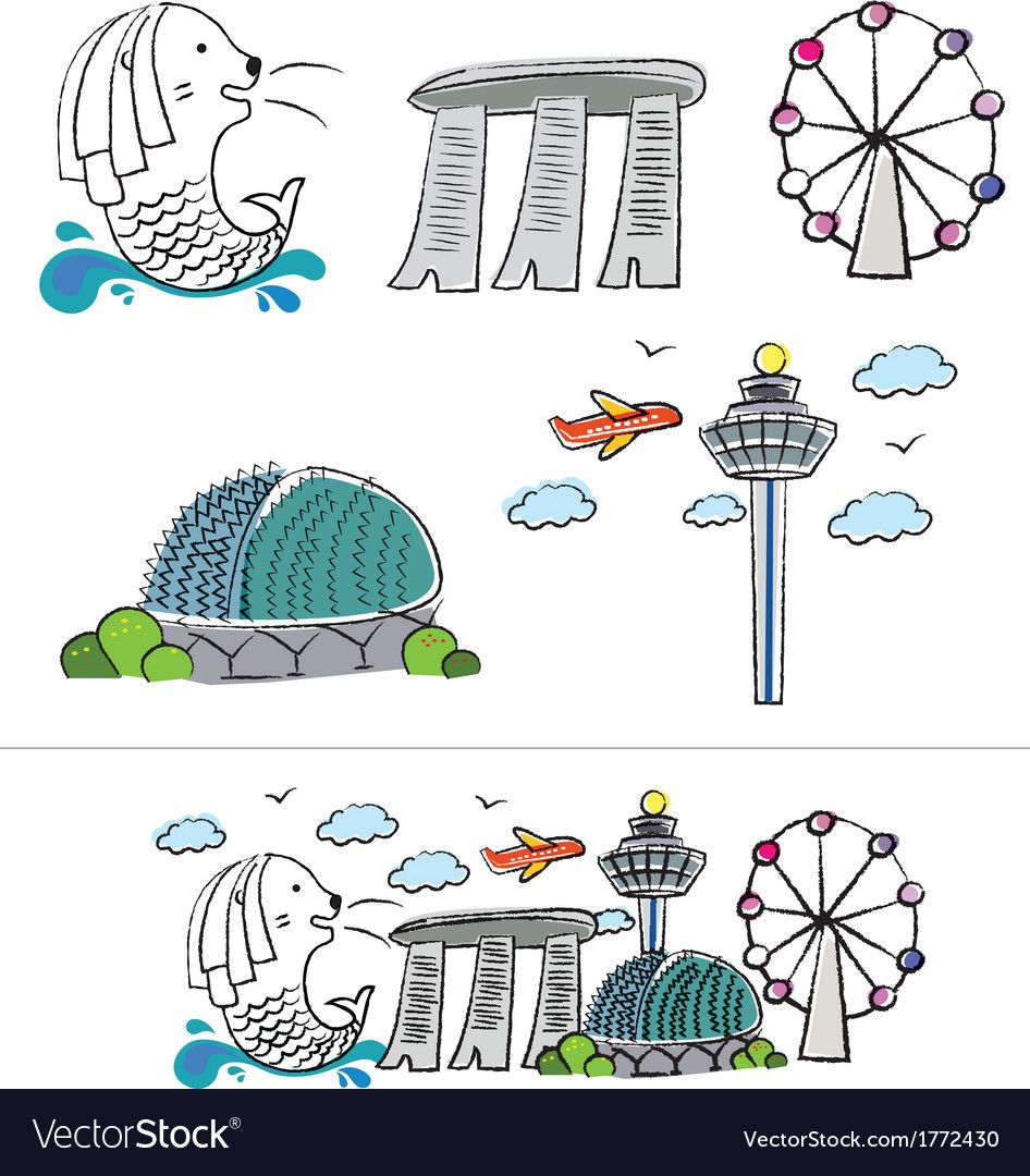 Pin about Singapore city and Singapore art on singapore icon.