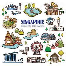 ผลการค้นหารูปภาพสำหรับ singapore landmark clipart.