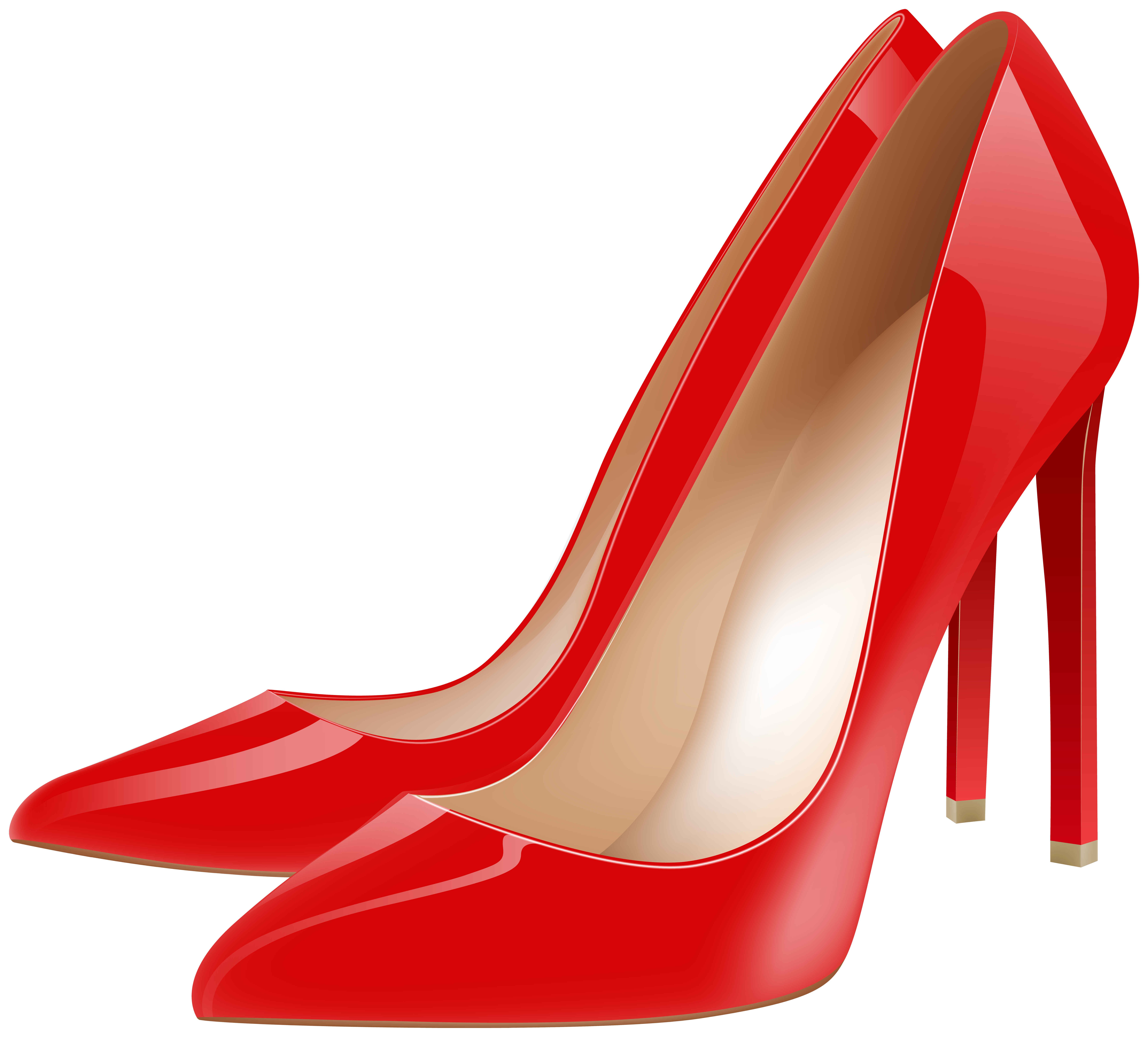 Red High Heels PNG Clipart.
