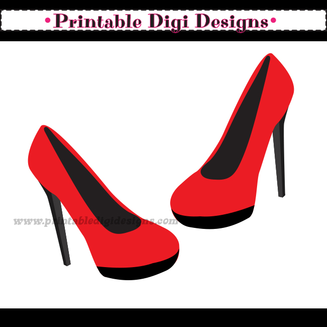High Heel Shoe With Purse Clip Art